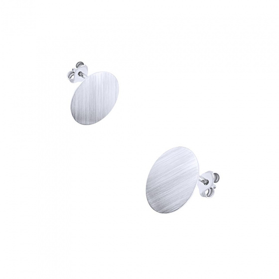 "Image of """"Dazzling Disk #1""silver earrings"""