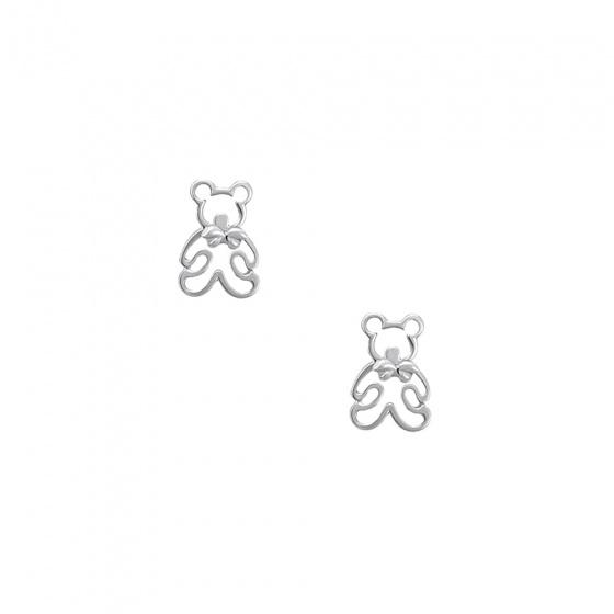 """Εικόνα του """"Ασημένια σκουλαρίκια """"Teddy Bears"""""""""""