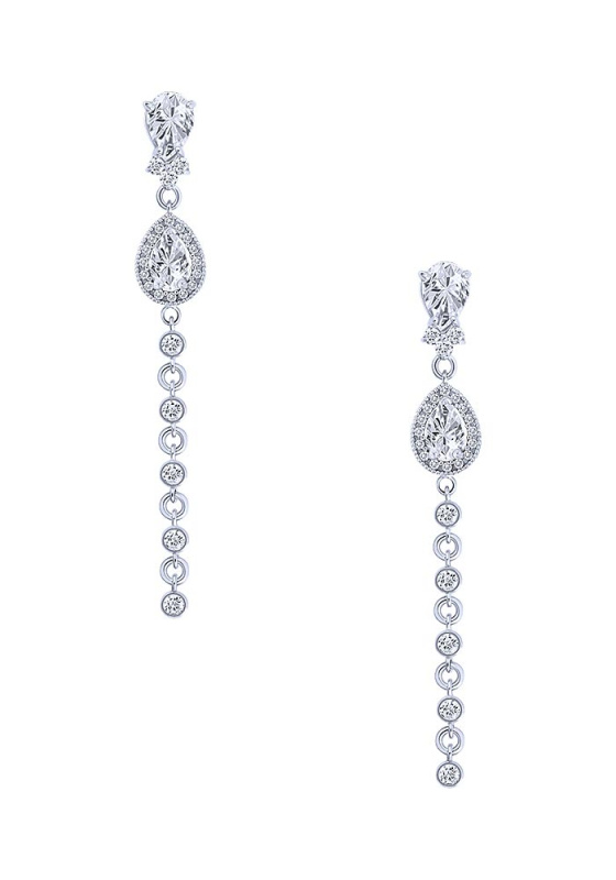 """Image of """"""""White Persea"""" silver earrings"""""""