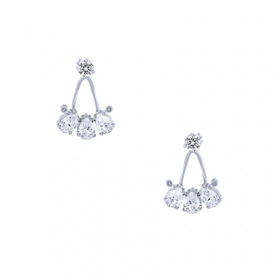 """Image of """"""""Poires"""" silver earjacket earrings"""""""