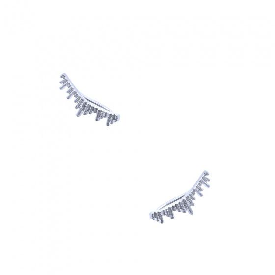"Image of """"Ventalia"" silver climbers earrings"""