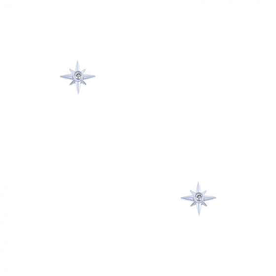 """Image of """"""""North Star"""" silver earrings"""""""