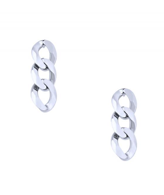 "Image of """"Chain"" cercei din argint"""