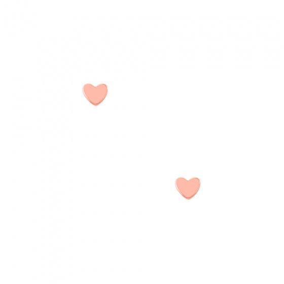 """Image of """"""""Festive heart"""" rose gold earrings K9"""""""