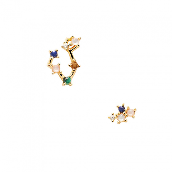 """Image of """"PDPAOLA Zodiac Pisces silver earrings gold plated, AR01-403-U"""""""
