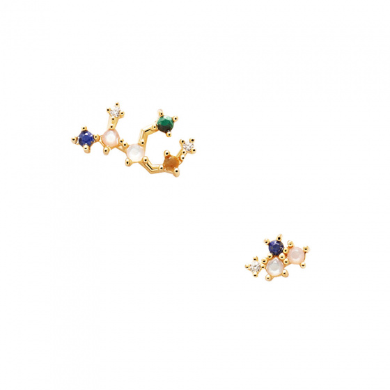 "Image of ""PDPAOLA Zodiac Virgo silver earrings gold plated, AR01-409-U"""