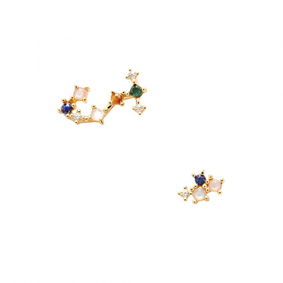 "Image of ""PDPAOLA Zodiac Scorpio silver earrings gold plated, AR01-411-U"""