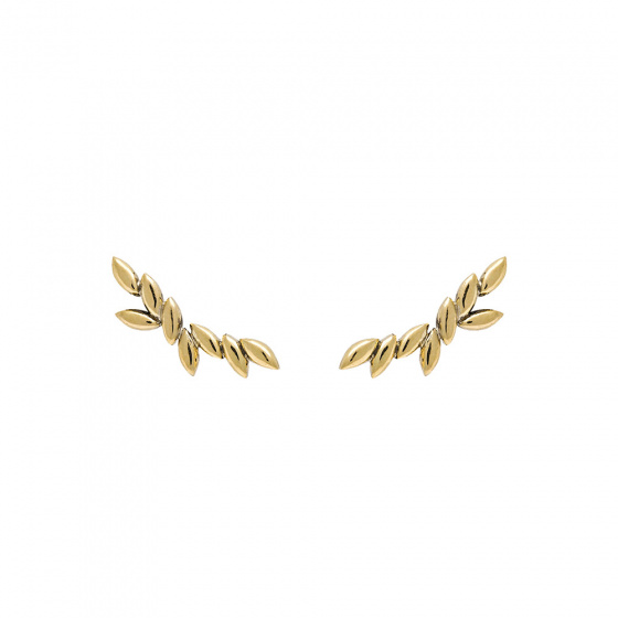 "Image of ""PDPAOLA ""Safari"" silver climber earrings gold plated"""