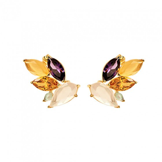 "Image of ""PDPAOLA ""Citric"" silver earrings gold plated"""