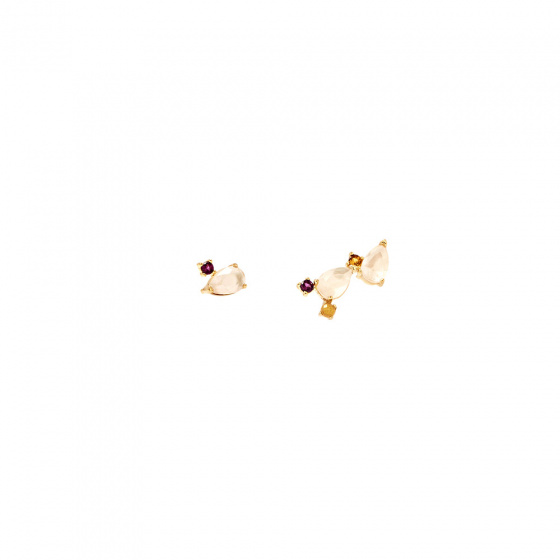 "Image of ""PDPAOLA ""Citric Petite"" silver earrings gold plated"""