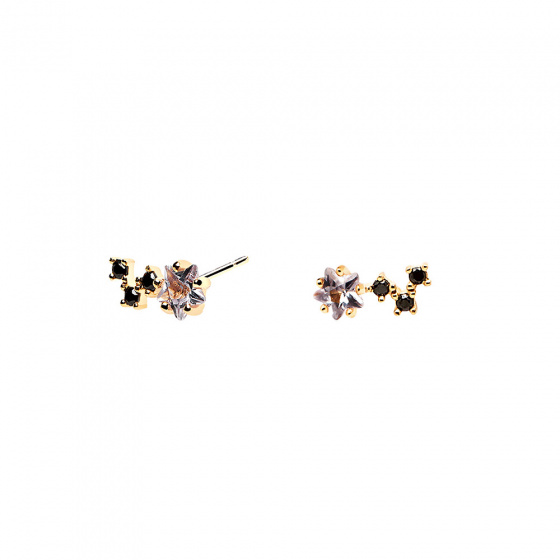 "Image of ""PDPAOLA ""Voyager"" silver earrings gold plated"""