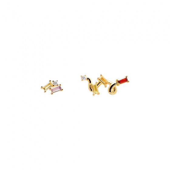 "Image of ""PDPAOLA ""Zaza"" silver earrings gold plated"""