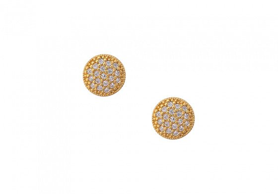 """Image of """"""""19 stars"""" silver earings goldplated"""""""