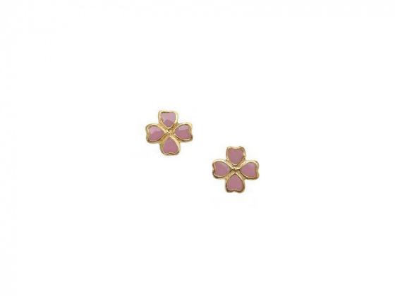 """Image of """"""""Lovely Flower"""" silver children's earrings gold plated"""""""