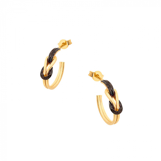 "Image of """"Tight Bonds"" silver earrings gold plated"""