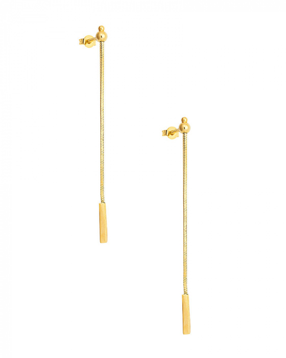 "Image of """"Simplicity"" silver earrings gold plated"""