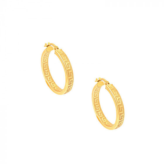 """Image of """"""""Erato #1"""" silver hoop earrings gold plated"""""""