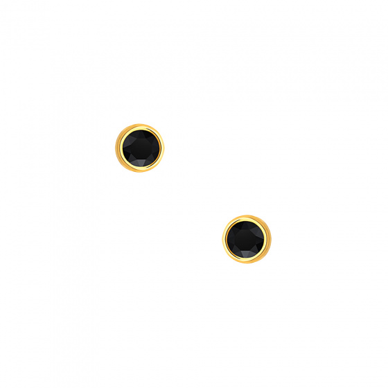 """Image of """"""""Black Sensation"""" silver earrings gold plated"""""""