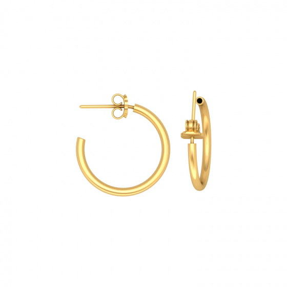 "Image of """"Classic"" silver hoop earrings 1,5 cm, gold plated, 15D15F-3"""