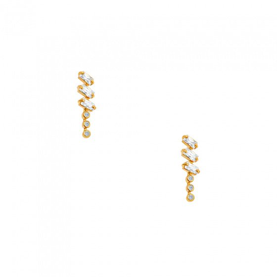 """Image of """"""""Domino"""" silver earrings gold plated"""""""