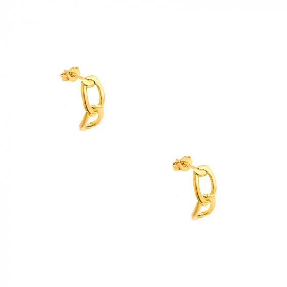 """Image of """"""""Bun #2"""" silver earrings gold plated"""""""