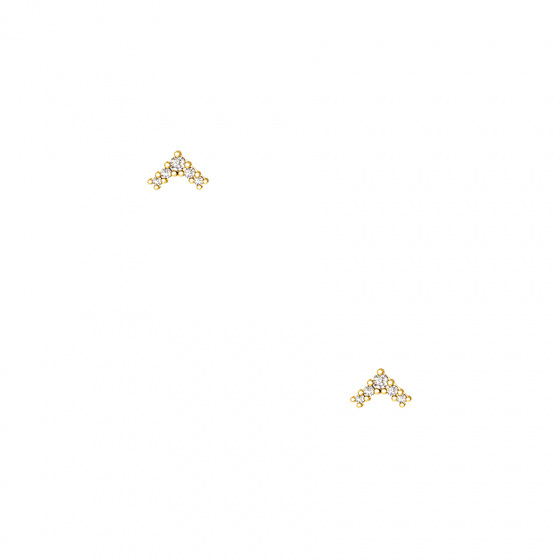 """Image of """"""""Victorious"""" silver earrings gold plated"""""""
