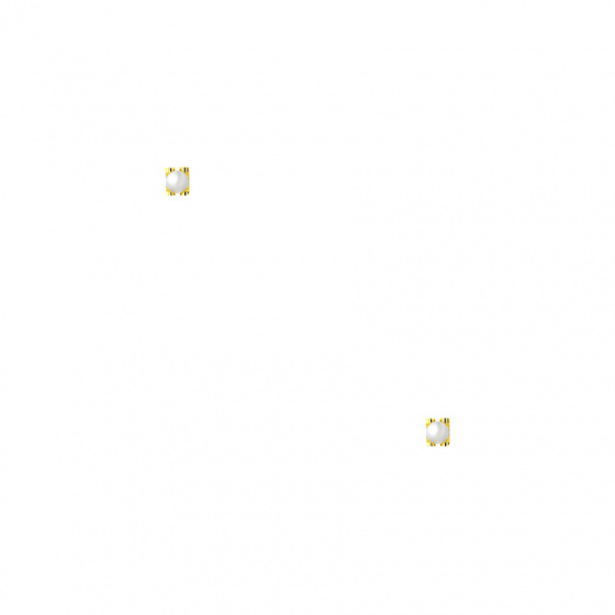 """Image of """"""""Single Pearl Bar"""" silver earrings gold plated"""""""