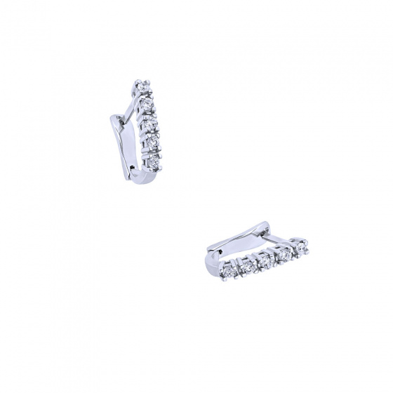 """Image of """"""""White Glow A"""" white gold earrings K18 with diamonds VS"""""""