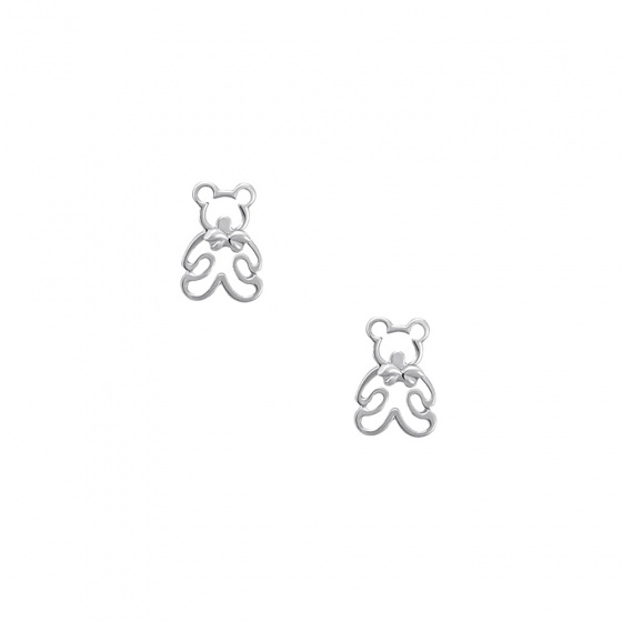 "Image of """"Teddy Bears"" white gold earrings K14"""