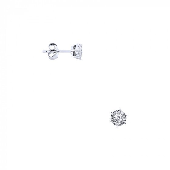 "Image of ""White gold earrings Κ14 with diamonds, BOI13160"""