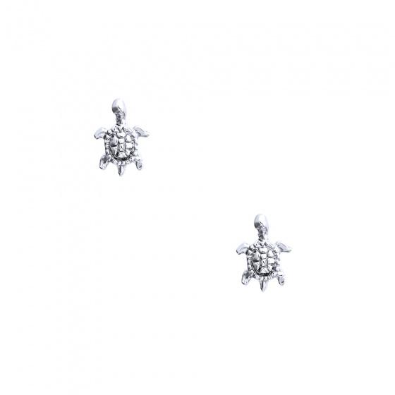 """Εικόνα του """"Λευκόχρυσα σκουλαρίκια K14 """"Sea Turtles"""""""""""