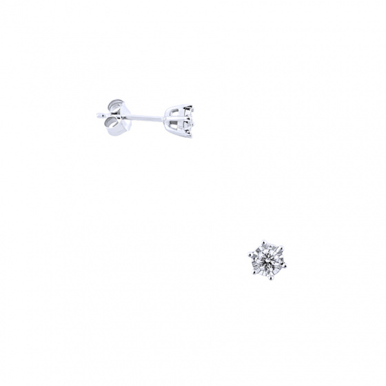 """Image of """"White gold earrings Κ14 with diamonds, BOS4008-015"""""""