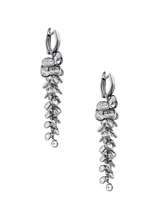 "Image of """"Whispers of Demeter"" silver earrings black rhodium plated"""