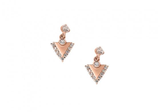 "Image of """"Trinity"" rose gold earrings K14"""