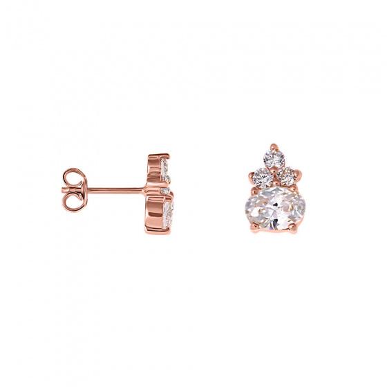 "Image of """"Heirloom"" rose gold earrings K14"""