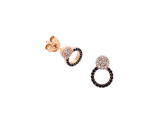 "Image of ""'Love Bugs"" rose gold earrings K14"""