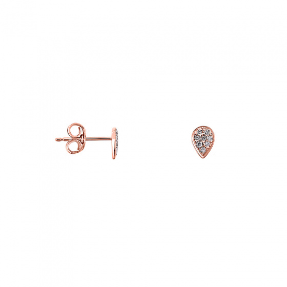 "Image of """"Fairy Tears"" silver earrings rose gold plated"""