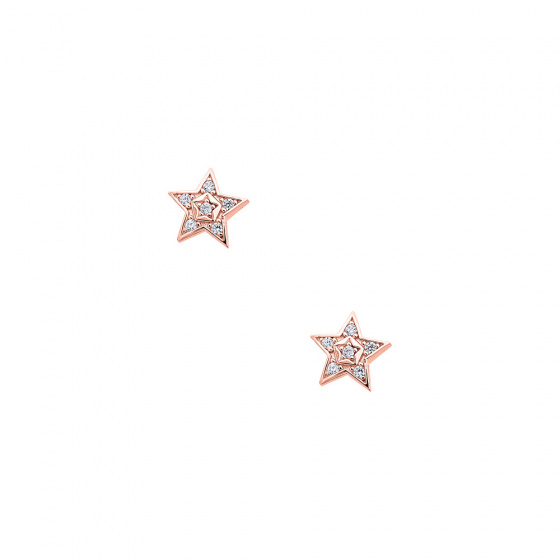"""Image of """"""""Bright Stars"""" silver earrings rose gold plated"""""""