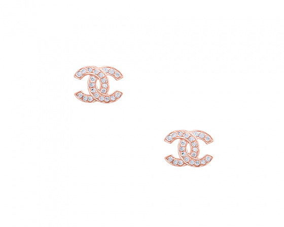 "Image of """"Stronger Together"" silver earrings rose gold plated"""