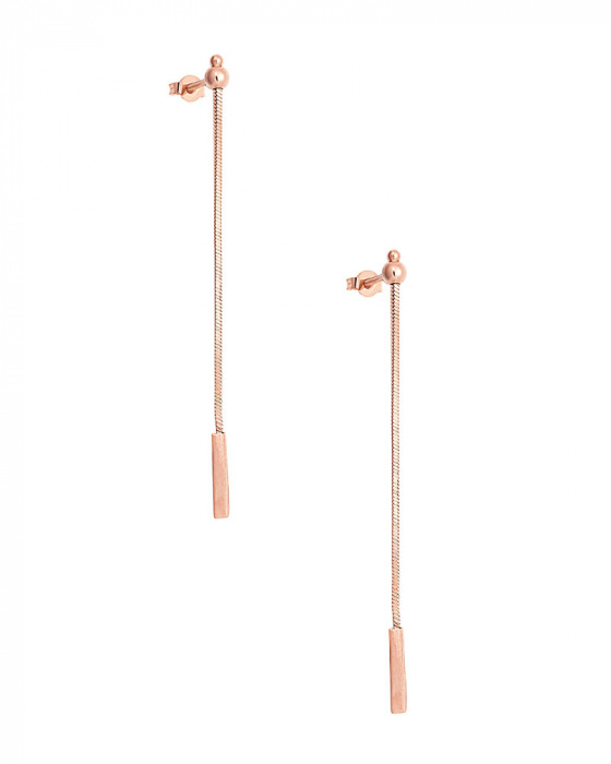 "Image of """"Simplicity"" silver earrings rose gold plated"""