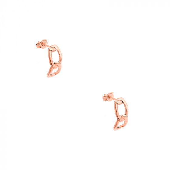"""Image of """"""""Bun #2"""" silver earrings rose gold plated"""""""