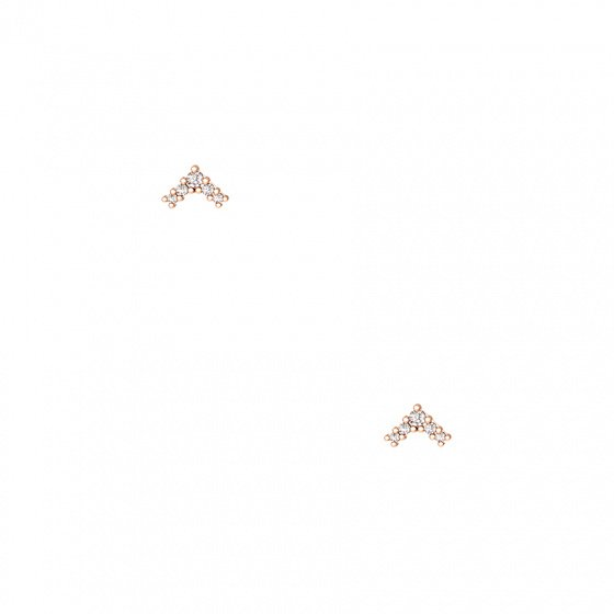 """Image of """"""""Victorious"""" silver earrings rose gold plated"""""""