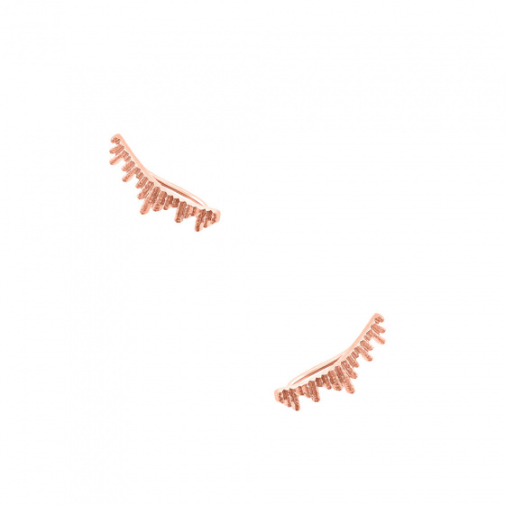"""Image of """"""""Ventalia"""" silver climbers earrings rose gold plated"""""""