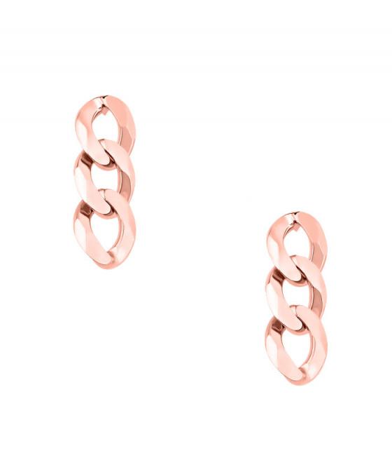"""Image of """"""""Chain"""" cercei din argint placat cu aur roz"""""""