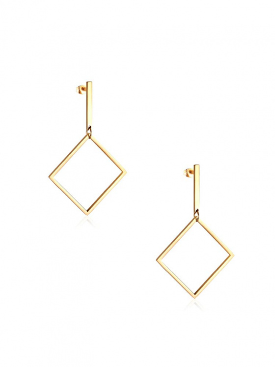 """Image of """"Stainless steel gold earrings, TER299"""""""