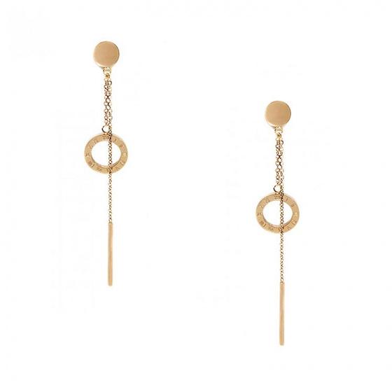 "Image of ""Stainless steel rose gold earrings, TER363"""