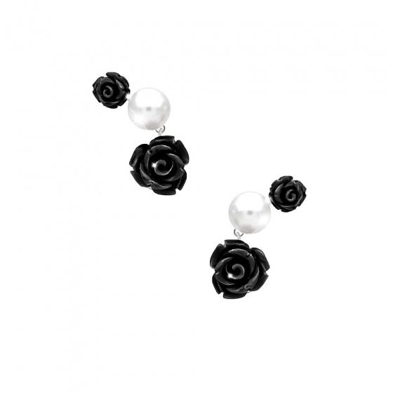 "Image of ""REBECCA Mediterraneo earrings in silver stainless steel, BMDOBN59"""
