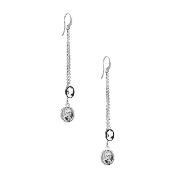"Image of ""REBECCA Madama earrings in silver stainless steel, BMMOBB09"""