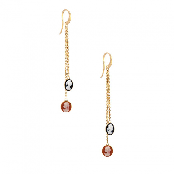 "Image of ""REBECCA Madama earrings in gold stainless steel, BMMOBO08"""