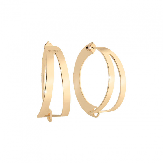 "Image of ""REBECCA Iconic hoop earrings in gold stainless steel, BICOBO09"""